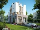 Проект стильного современного дома с цоколем и гаражом